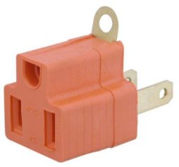 GROUNDING ADAPTOR 3PRONG TO 2