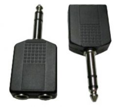 Dual 1/4 Stereo Jacks To 1/4 S