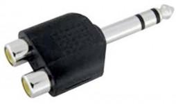 Dual RCA Jacks To 1/4 Stereo Plug