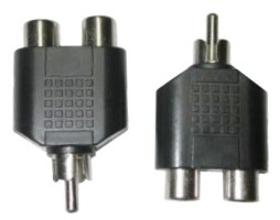 DUAL RCA JACKS TO RCA MALE