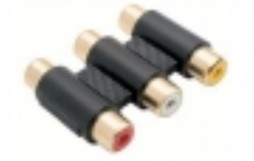 TRIPLE RCA TO TRIPLE RCA ADAPTOR