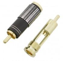 DLX GOLD PLATED PLUG RCA PHONE PLUG (A/V)