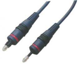 OPTIC CABLE 12FT TOSLINK PLUG TO ..MINI PLUG 5MM
