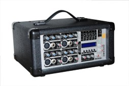 4 CHANNEL POWER MIXES W/USB+LCD DISPLAY