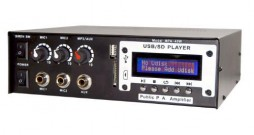 PA AMP. W/MP3-USB BUILT IN PLAYER 40W 12-110V