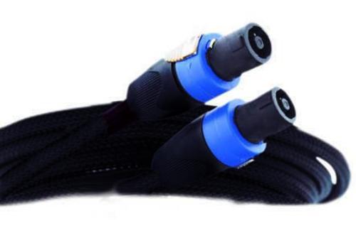 50' SPEAKER CABLE BLACK PVC MESH JACKET SPEAKON FITTINGS (MSPK4-1350)