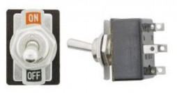 LIGHT TOGGLE SWITCH DPDT6P