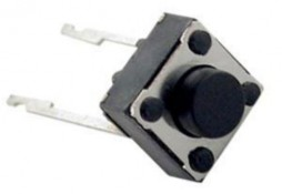 MICRO SWITCH, 6X6MM, HEIGHT OF BUTTON 5MM, 2 LEGS
