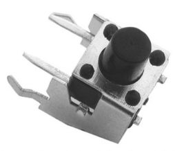 MICRO SWITCH WITH SUPPORT, 6X6MM, HEIGHT OF BUTTON 7MM, 2 LEGS