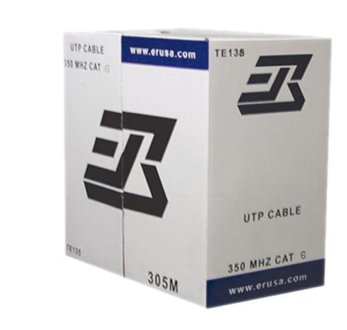 CAT 6 UTP CABLE, 4 PAIRS 1000' ECONOMIC TYPE GREY COLOR