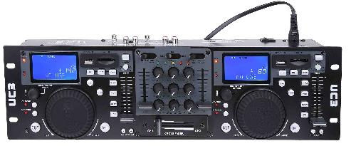 PROFESSIONAL DUAL USB/SD PLAYER W/DJ CONTROL AND MIXER
