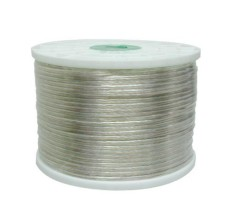 18x2 SPEAKER WIRE CLEAR INSULATION 1000ft.