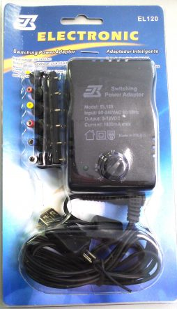 AC/DC ADAPTOR 1800ma WITH USB 90-240 Vca