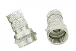 F CONNECTOR FOR RG6U ZINC TYPE