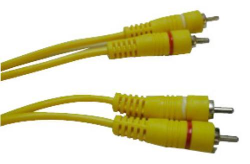 2 RCA PLUG DTP 2 RCA PLUG 3FT YELLOW