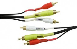 TRIPLE RCA TO RCA PLUGS 3FT