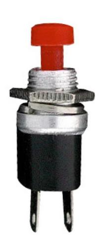 PUSH BUTTON SWITCH OPEN CIRCUIT RED