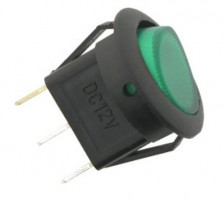 12V-20A DC ROUND SWITCH RED