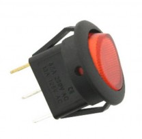 6A SQUARE ON-OFF SWITCH RED