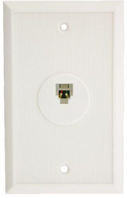 4C WALL PLATE WHITE
