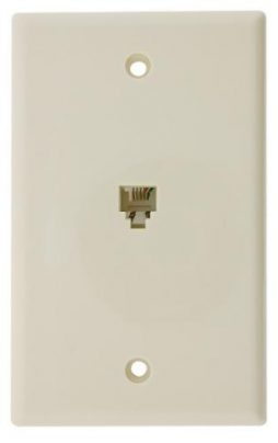 4C WALL PLATE SMOOTH WHITE