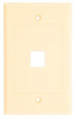 KEYSTONE WALL PLATE 1-HOLE IVORY
