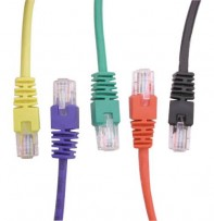 "6"" CAT 5 PATCH CORD W/8P8C PLUG RED"