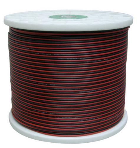20G RED & BLACK SPEAKER CABLE 1000'