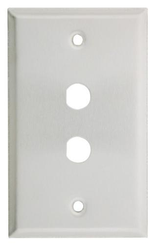 STAINLESS STEEL PLATE double hole