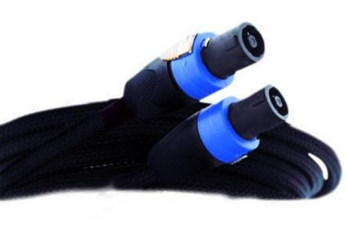 25' SPEAKER CABLE BLACK PVC MESH JACKET SPEAKON FITTING (MSPK4-1325)