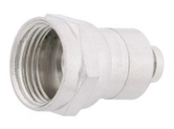 F Connector W/1/4' Ring Attach