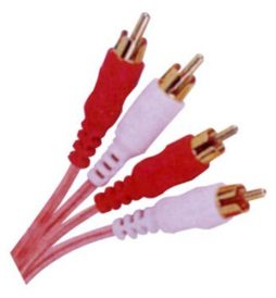 12' 2 RCA TO 2 RCA CLEAR SHIELDED