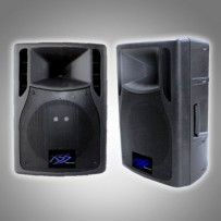"""15"""" POWER SPEAKER CABINET, BATTERY AND UHF"""