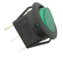 6 A ROUND ON-OFF SWITCH GREEN