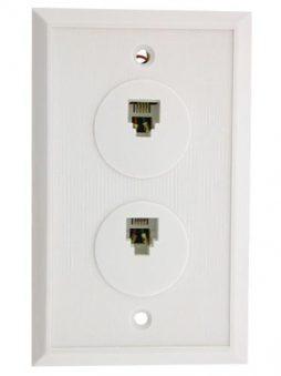4C Duplex Wall Plt Ivory